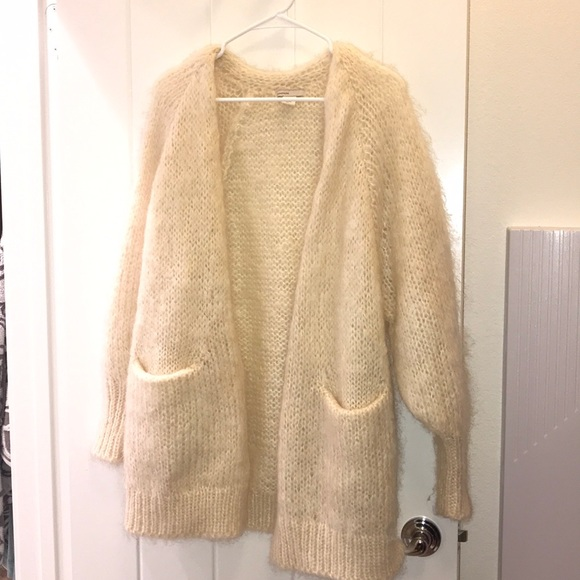 5979258c21 H M Sweaters - H M mohair blend cream oversized cardigan